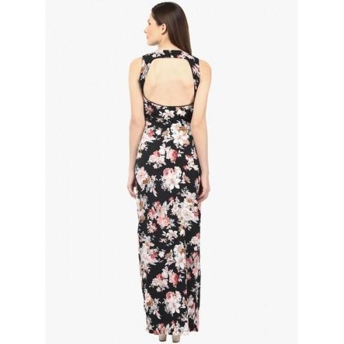 Harpa Black Printed Maxi Dress