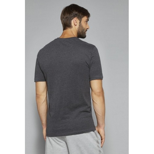 Bodybasics by Westside Grey Melange Printed T Shirt