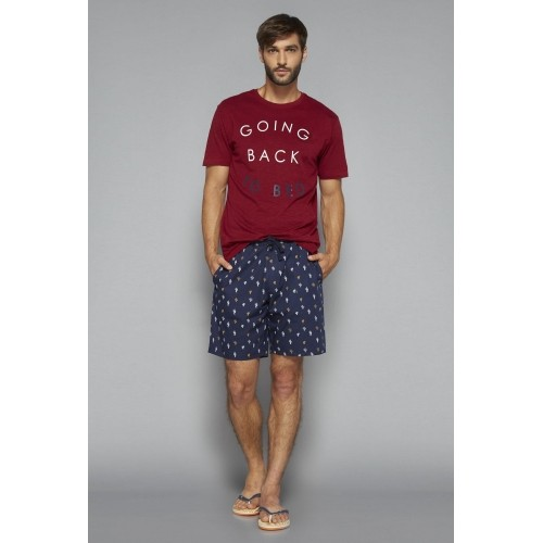 Bodybasics by Westside Maroon Printed T Shirt