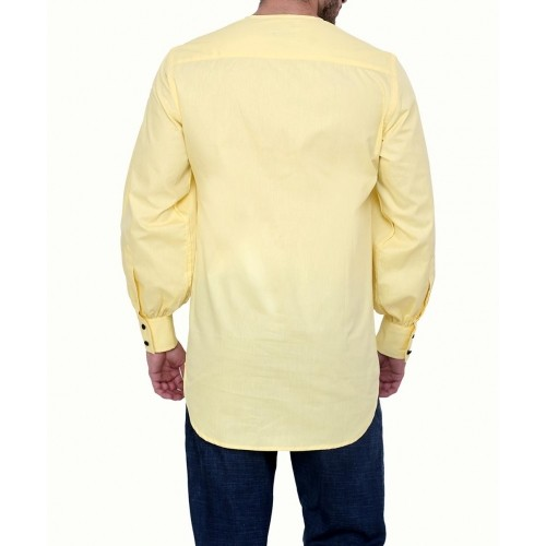Dazzio DZSH0145 Yellow Club Wear Full Sleeves Casual Shirt