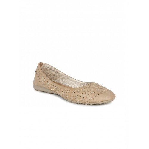Shoetopia  Tan Brown Ballerinas For Women