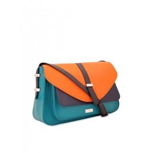 Yelloe Women's Sling Bag (Turquiose Orange,B207Fs120I)