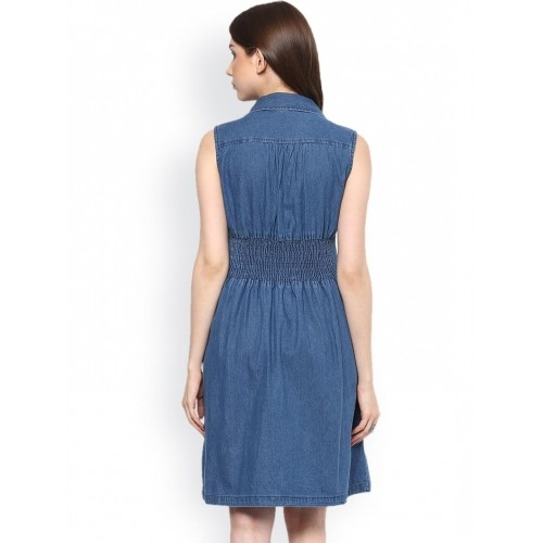 Stylestone Navy Blue Coloured Solid Shift Dress