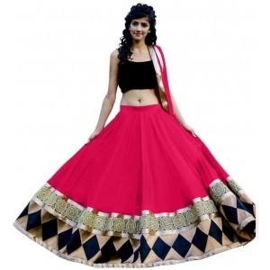 Pink Bollywood Style Georgette Chaniya Choli