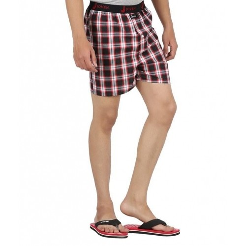 42baa35c8ef Buy Joven MultiColored Cotton Checked Boxers Pack of 3 For Men ...