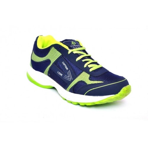 ABZ Neon & Navy Blue Running Shoes