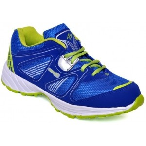 ABZ Blue Leather Running Shoes For Men