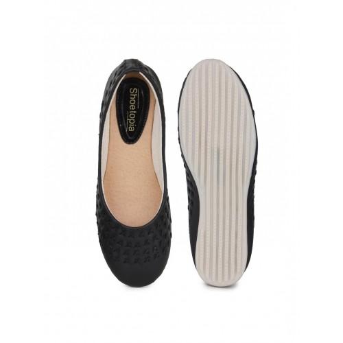 Shoetopia Black Flat Bellies For Women