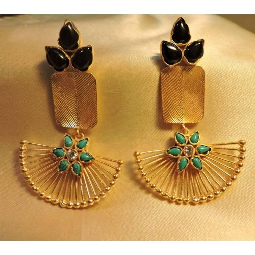lotus lyst gold diamond topaz earrings kaliyana amrapali karat jewelry and