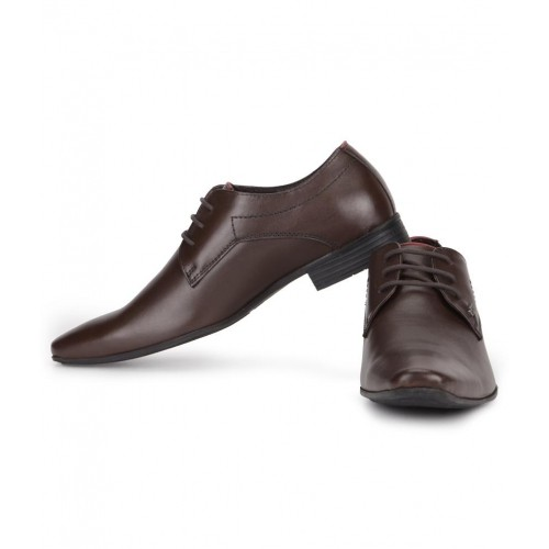 567c8cb5c4 ... Lee Cooper Brown Synthetic Leather Formal Shoes For Men ...