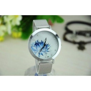 Geneva Silver Analog Watch For Women