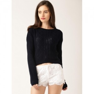 DressBerry Women Navy Sweater