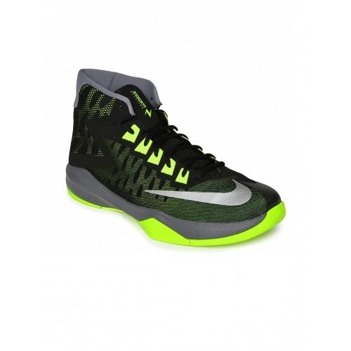 4a461c5bddf Buy Nike Black   Neon Green Zoom Devosion Basketball Shoes online ...