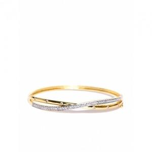Zaveri Pearls Gold-Toned CZ Stone-Studded Bracelet