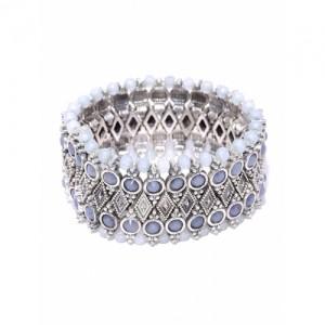 Accessorize Silver-Toned Beaded Bracelet