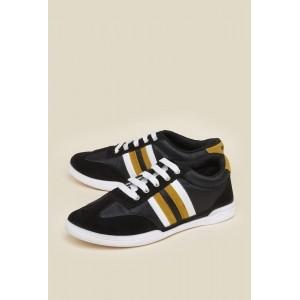 Zudio Black Canvas Training Shoes