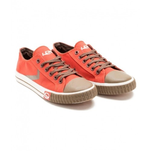 Brown Canvas Sneakers Shoes For Men
