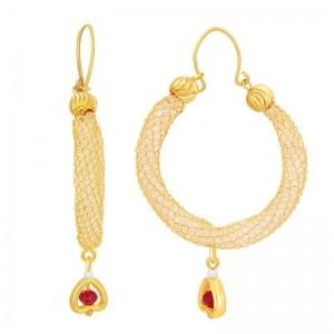 Sukkhi Charming Stone Bali Gold Plated Austrian Diamond Earring