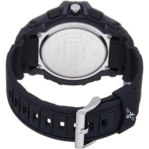 Sonata NL77027PP01 Black Round Leather Chronograph Watch
