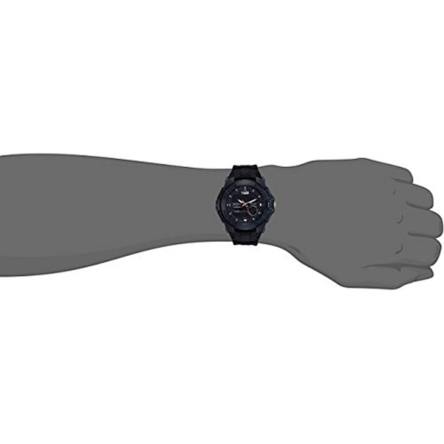 Sonata NL77027PP01 Black Round Leather Digital Watch