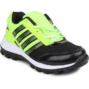 11e Fine-5121 Black & Green Running Shoes