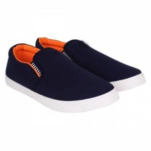 Clymb NavyBlue Slip-on Shoes For Men