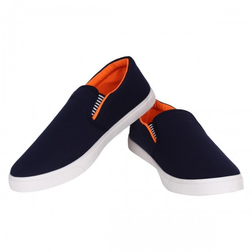 Clymb NavyBlue Canvas Slip-on Loafers Shoes
