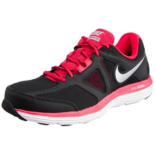 best service abffc 38513 ... Nike Men s Dual Fusion Lite 2 MSL Black, Red and White Mesh Running  Shoes ...