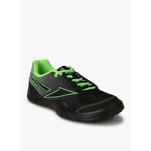Reebok Black Leather Solid Running Shoes