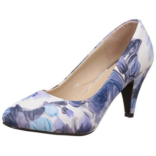 Footilicious White Synthetic Slip-On Pumps