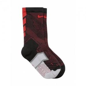 Nike Unisex Black & Red Printed Football Socks For Men