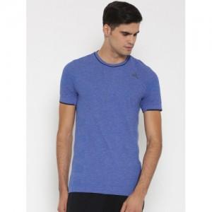 Adidas Blue As Primeknit M Round Neck T-Shirt