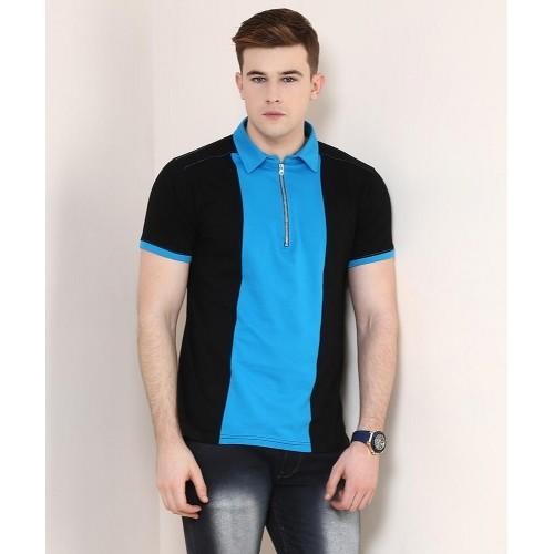 8606e3679ee Buy Yepme Black   SkyBlue Scott Party Polo T-Shirt online