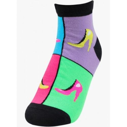 Bonjour Pack Of 4 Multicoloured Printed Socks