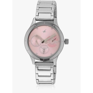 6078Sm07 Dc636 Silver & Pink Stainless Steel Analog Watch