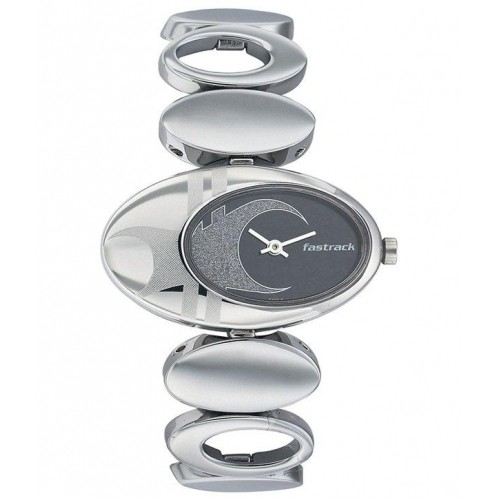 Fastrack Black & Silver Hip Hop Analog Watch6024SM01