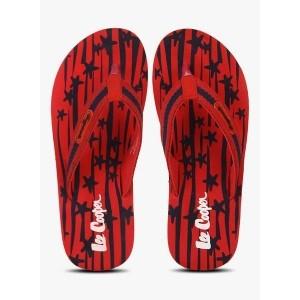Lee Cooper Men's Red Flip Flops