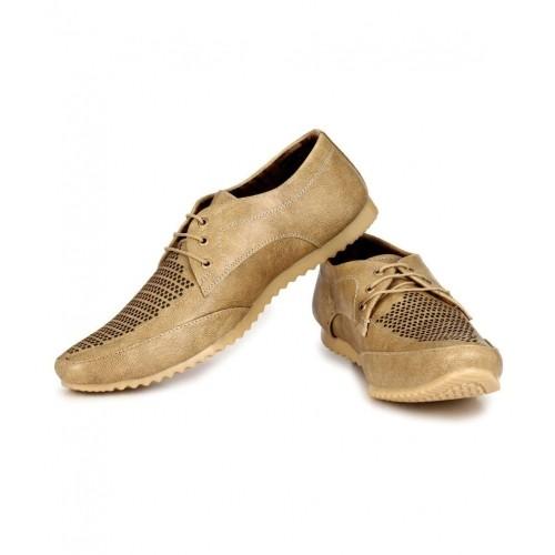 f3c53d25d1f57 Buy Afrojack Beige Faux Leather Casual Shoes For Men online ...