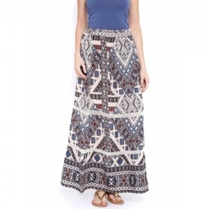 ONLY Multicoloured Printed Flared Skirt