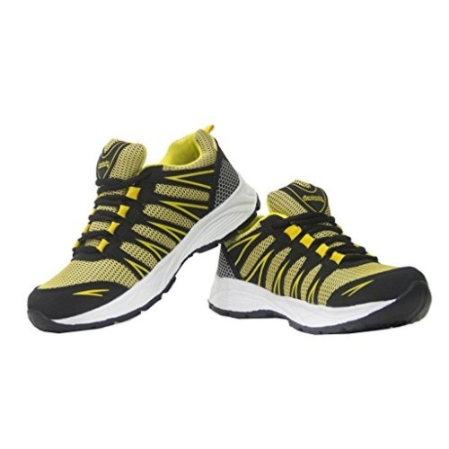 Density Rider Yellow & Black Sports Shoes