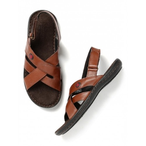 b6705f0fc Buy Roadster Tan Brown Synthetic Leather Sandals For Men online ...