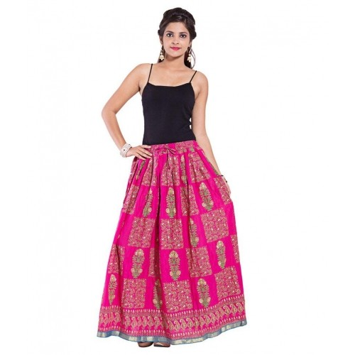 6a5de82c34 Buy Decot Paradise Pink Cotton Printed Maxi Skirt online   Looksgud.in