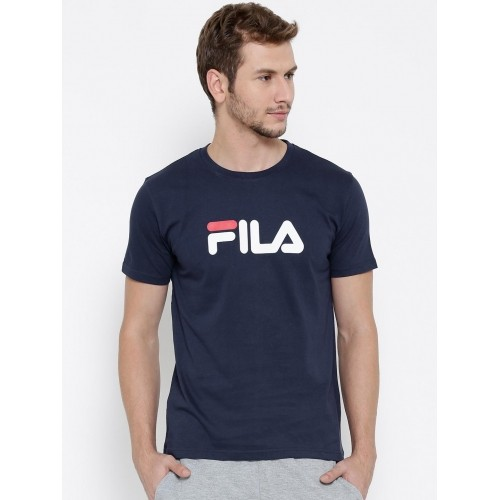 9487ccd1 Buy Fila Navy Blue Cotton Eagle Printed Round Neck T-shirt ...