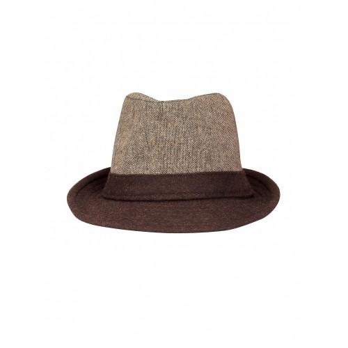 2f7bcb1a899 FabSeasons Unisex Brown Fedora Hat  FabSeasons Unisex Brown Fedora Hat ...
