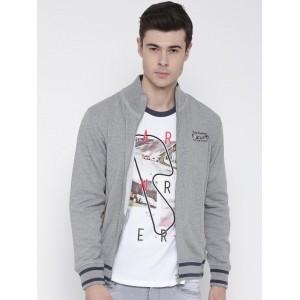 FILA Grey Melange Coral Sweatshirt