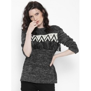 Roadster Women Black Sweater