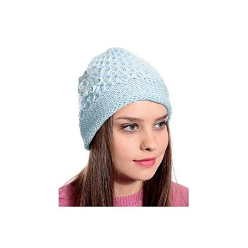 Zacharias Light Blue Women's Winter Woolen Cap