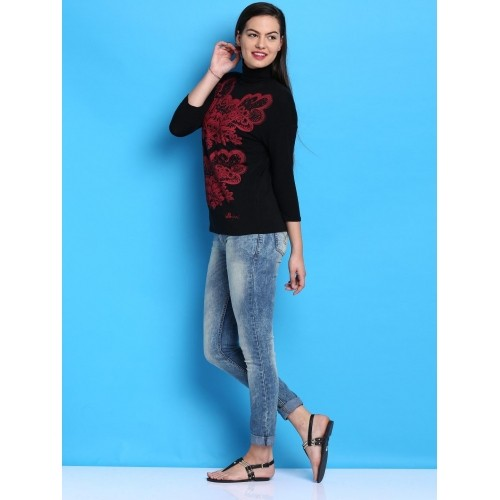 Desigual Black Printed T-shirt