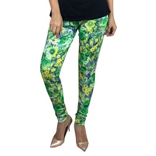 c5e2c06015e9d Buy Foxy Urban Parrot Green All Over Printed Leggings online ...
