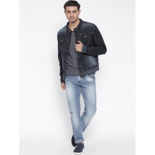 Buy Pepe Jeans Navy Washed Denim Jacket Online Looksgud In